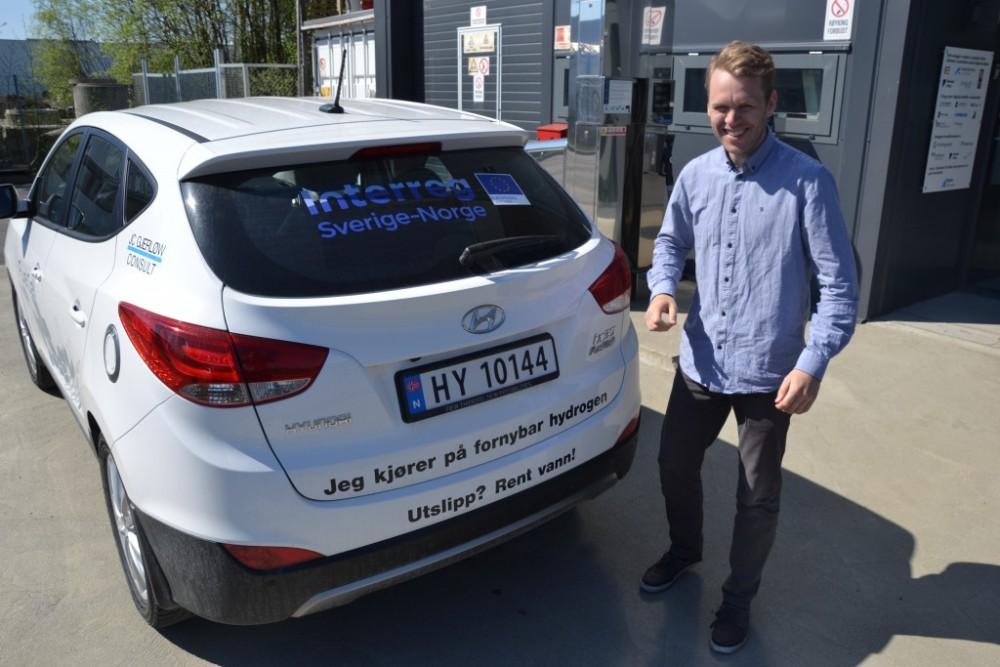 – Hadde vi også fått en hydrogenfyllestasjon i Eidsvoll, ville dette vært helt perfekt, sier Daniel Bügel i Green Drive Region.